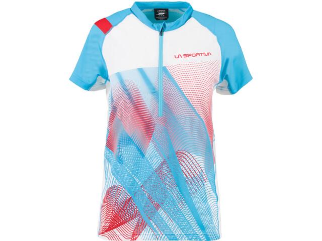 La Sportiva Veloce Camiseta Mujer, azul/blanco